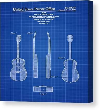 Acoustic Guitars Canvas Prints