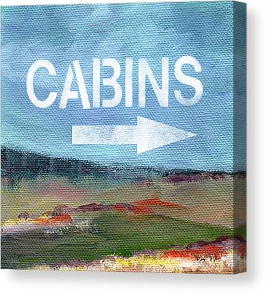 Cabin Wall Mixed Media Canvas Prints
