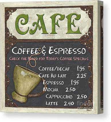 Cafes Canvas Prints