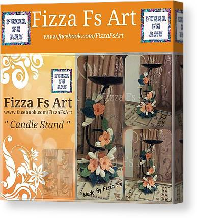 Candle Stand Mixed Media Canvas Prints