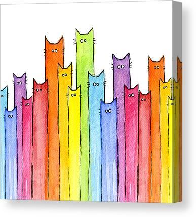 Cute Cat Canvas Prints