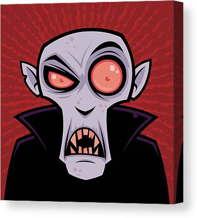 Scary Drawings Canvas Prints