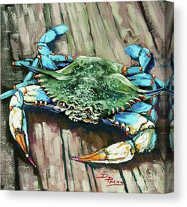 Blue Claw Crab Canvas Prints