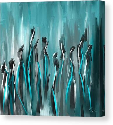 Turquoise And Brown Canvas Prints
