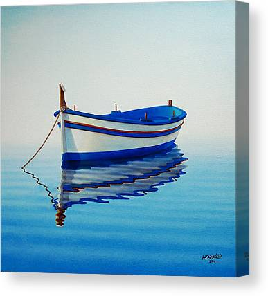 Boats Paintings Canvas Prints