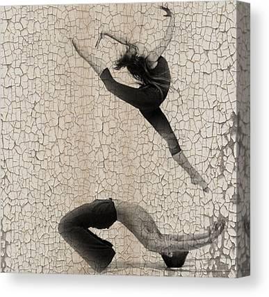 Ballet Dancers Digital Art Canvas Prints