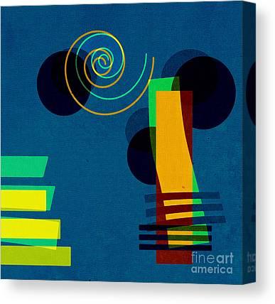Blue Modern Art Canvas Prints