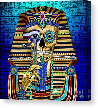 Pharaoh Mixed Media Canvas Prints