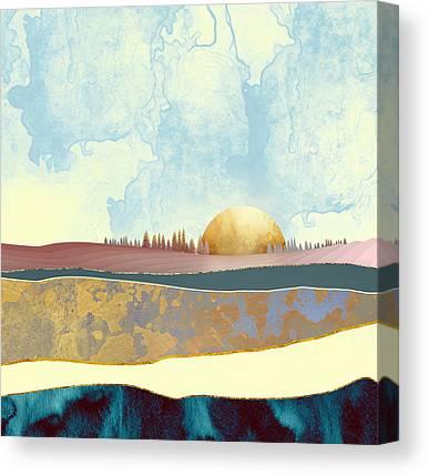 Abstract Landscape Digital Art Canvas Prints
