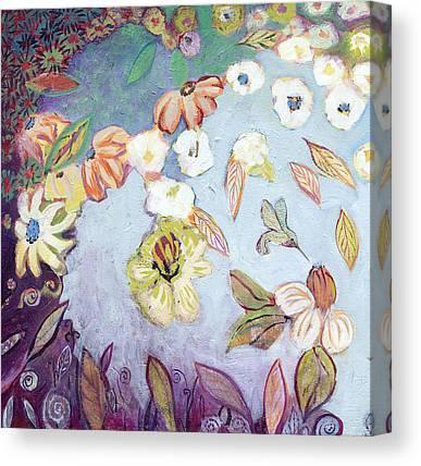 Abstract Hummingbird Canvas Prints