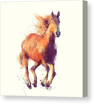 Running Horse Canvas Prints
