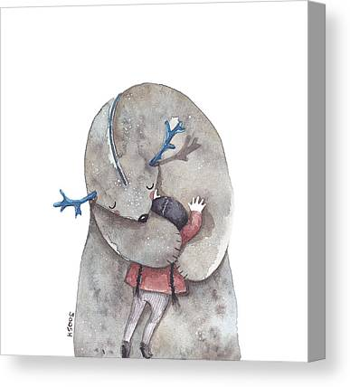 Imaginary Friend Canvas Prints