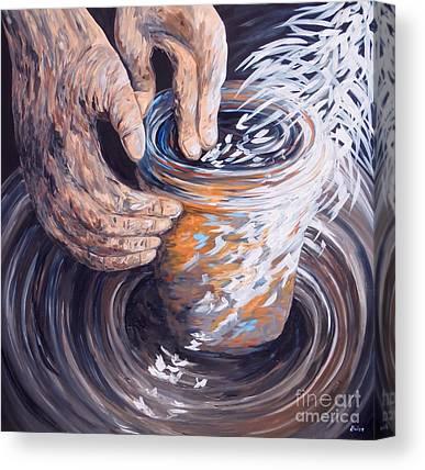 Potters Wheel Canvas Prints
