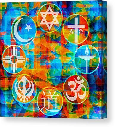 Sikh Art Digital Art Canvas Prints