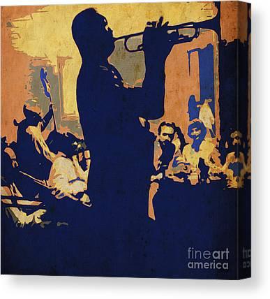 Yellow Trumpet Canvas Prints
