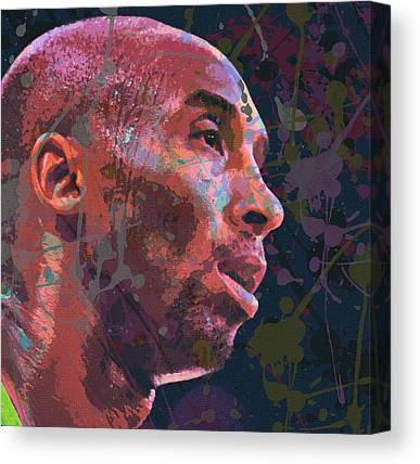 Kobe Bryant Abstract Paintings Canvas Prints