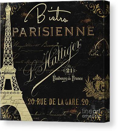 Paris Night Paintings Canvas Prints