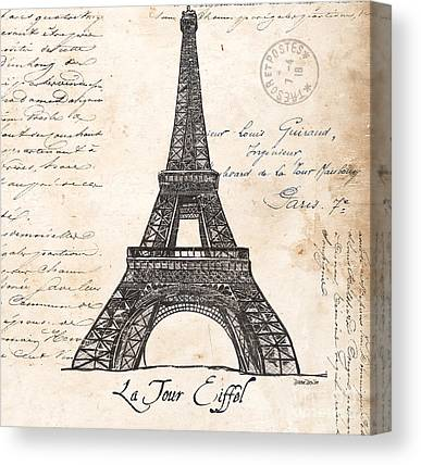 Eiffel Tower Canvas Prints