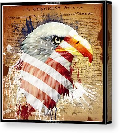 Independance Day Digital Art Canvas Prints