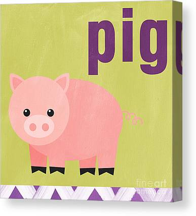 Baby Pigs Canvas Prints