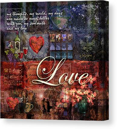 Loving Digital Art Canvas Prints