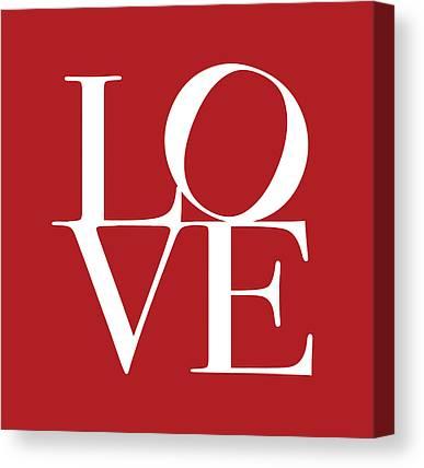 In Love Digital Art Canvas Prints