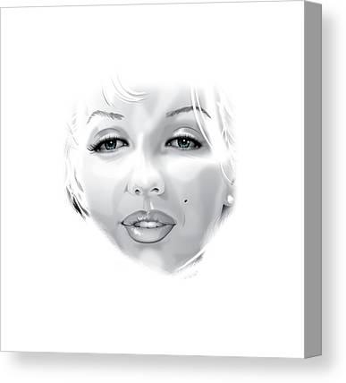 Munroe Digital Art Canvas Prints