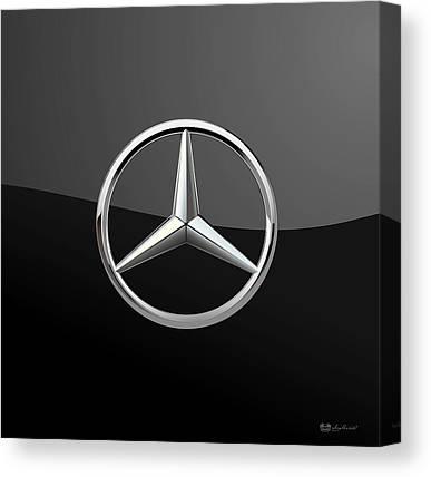 Mercedes Automobile Canvas Prints