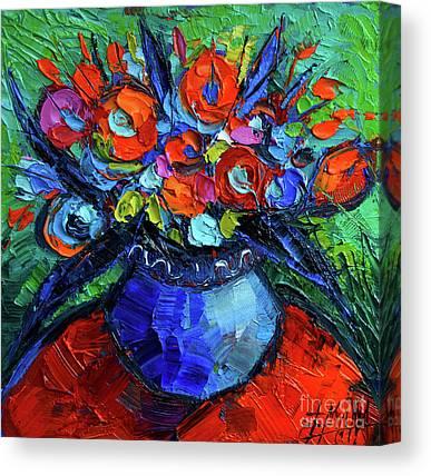 Florals On Canvas Prints