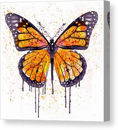 Insects Mixed Media Canvas Prints