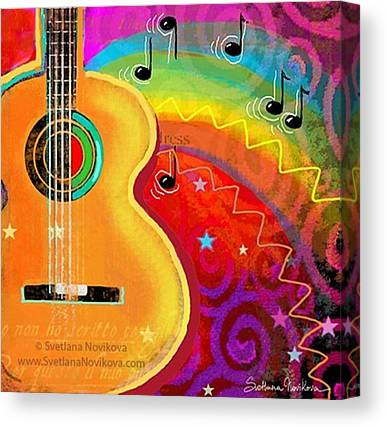 Guitars Canvas Prints