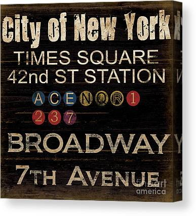 Nyc Mixed Media Canvas Prints