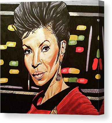 Uhura Canvas Prints