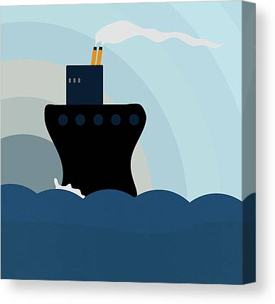 Steam Ships Canvas Prints