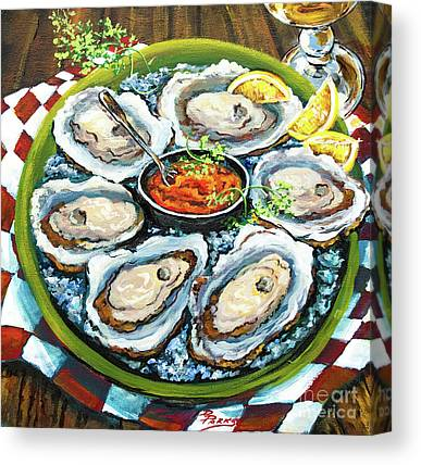 Raw Oyster Canvas Prints