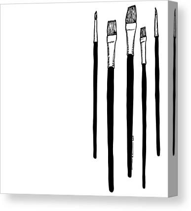 Brush Drawings Canvas Prints