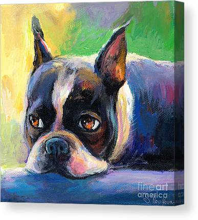 Boston Terrier Canvas Prints