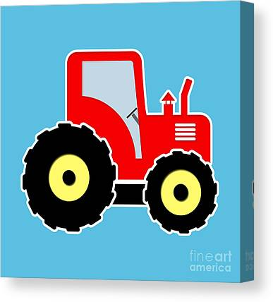 Children Mechanized Digital Art Canvas Prints