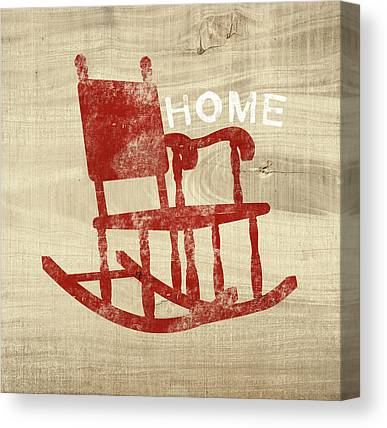 Rocking Chairs Mixed Media Canvas Prints