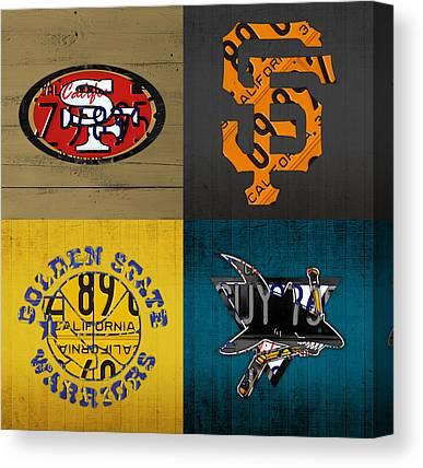 Hockey Game Canvas Prints