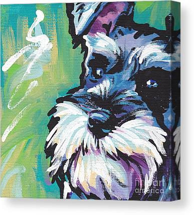 Schnauzer Canvas Prints