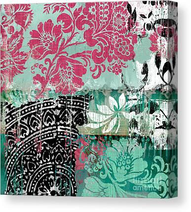 Collage Tapestries - Textiles Canvas Prints