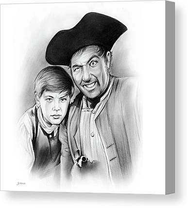 1950 Movies Drawings Canvas Prints