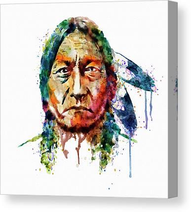 Elder Mixed Media Canvas Prints