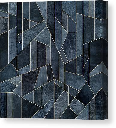 Dark Navy Blue Canvas Prints