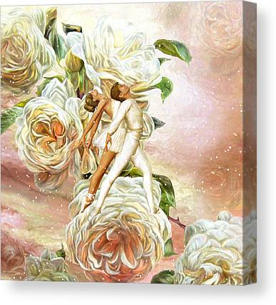 Dance Ballet Roses Mixed Media Canvas Prints