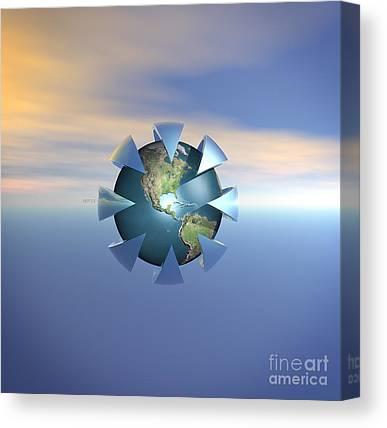 Terra Firma Digital Art Canvas Prints