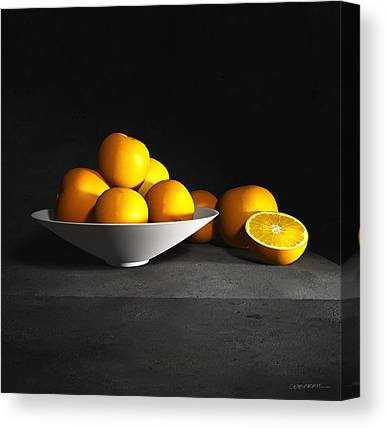 Still Life With Tangerines Canvas Prints