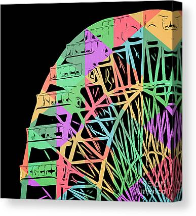 Wheel Digital Art Canvas Prints