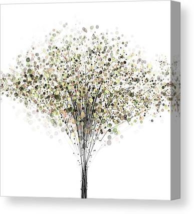 Tree-lined Canvas Prints